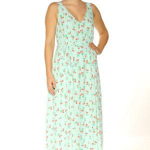 Maison Jules Cherry Print Midi Dress